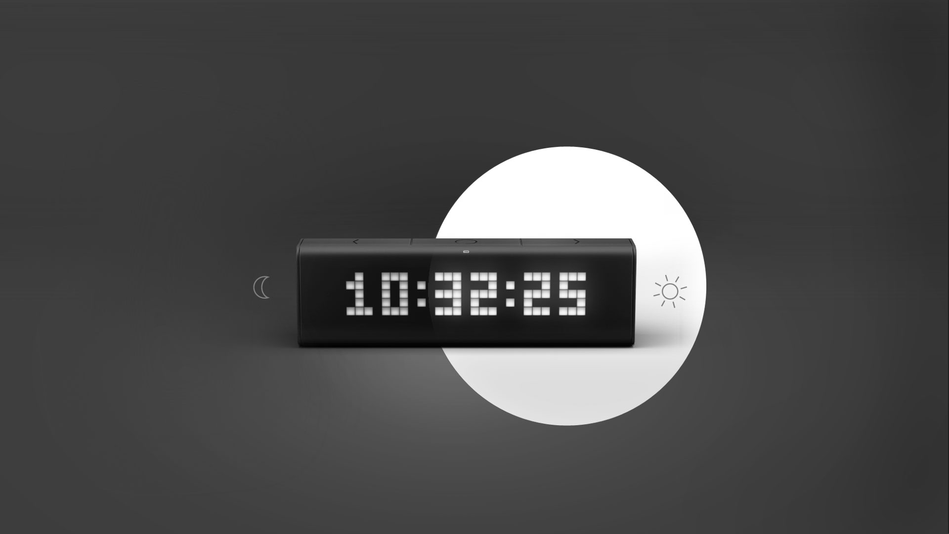Comfortable brightness to your eyes on LaMetric Time display